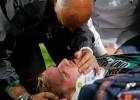 Perquis salió en ambulancia tras chocar con Fabrice