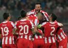 El Olimpiacos de Míchel se afianza con un gol de Manolas