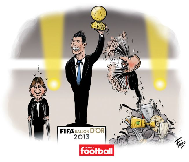 France Football-ის კარიკატურა