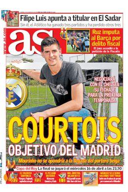 Courtois le dijo a Gil Marín que se irá al Madrid, según El Larguero