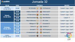 El Real Sociedad-Real Madrid, el sábado 5 de abril a las 20:00
