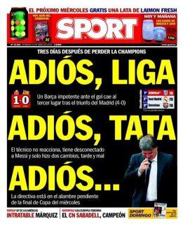 """""""Adiós Liga, adiós Tata, adiós..."""""""