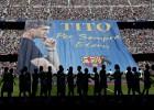 El Camp Nou le dio un emotivo último adiós a Tito Vilanova
