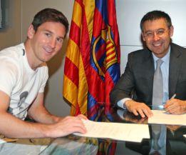 Leo Messi firma la tregua y su séptima renovación con el Barça
