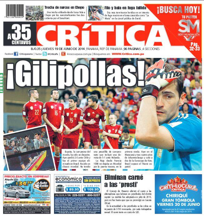 Un Diario De Panamá Insulta A La Selección Española Gilipollas