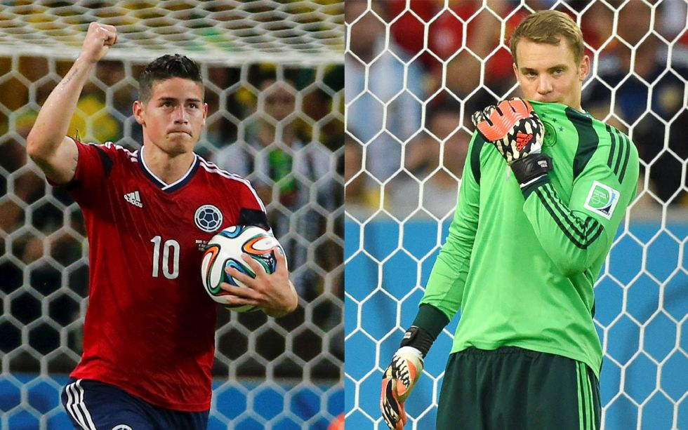James, Bota de Oro; Neuer, mejor portero y Pogba, mejor joven - AS.com
