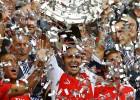 Arteta levantó el trofeo como capitán: