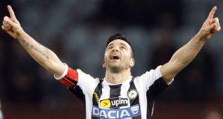 Repóker de Di Natale para el Udinese en la Copa de Italia