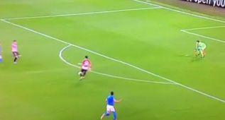 El Nápoles reclamó fuera de juego de Aduriz en el tercer gol