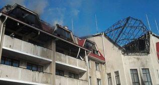 La ciudad deportiva del Shakhtar, dañada por los bombardeos