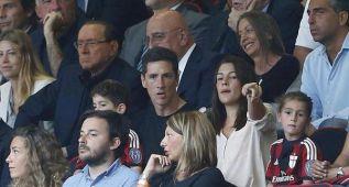 Torres siguió el Milán-Lazio desde el palco de San Siro
