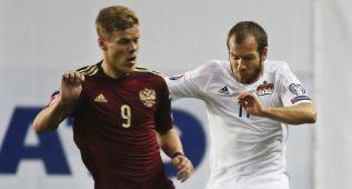 Rusia aplasta a Liechtenstein y ahoga las penas del Mundial