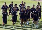 El Rayo vuelve a entrenar sin Amaya y los internacionales
