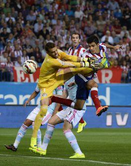Atlético Madrid igualó ante el Celta y no logró llegar a la cima