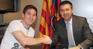 """Bartomeu: """"No veo posibilidades de que Messi se vaya: es feliz"""""""