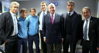 Juan Carlos de Borbón vio en directo el City- Tottenham