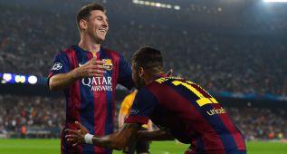 Messi marca el ritmo de un Barça que vivió en el alambre