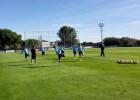 Sesión de recuperación para el Atlético tras la goleada