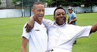 """Neymar felicita a Pelé: """"El mejor de todos los tiempos"""""""