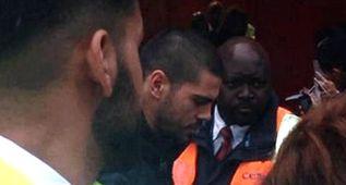 Víctor Valdés, en Old Trafford para presenciar el partidazo