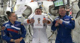Rusia presenta el logo de su Mundial desde el espacio