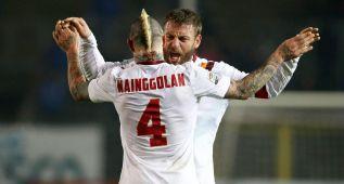 La Roma vence al Atalanta y pone presión a la Juventus