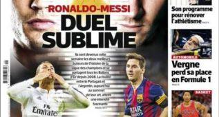 Francia se rinde al gran duelo Cristiano Ronaldo vs. Leo Messi