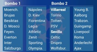 Inter, Nápoles y Fiore son los 'cocos' para Sevilla y Villarreal