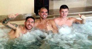 Ramos, Pepe y Kroos se relajan antes de la final del Mundialito