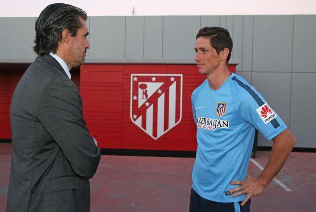 Torres ya entrena con el Atleti