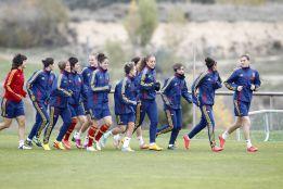 La selección se concentra en Las Rozas y jugará ante el Atlético