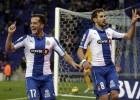 Stuani y Caicedo hacen volar al Espanyol ante un flojo Almería