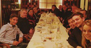 Mou celebró con su familia y el cuerpo técnico su cumpleaños