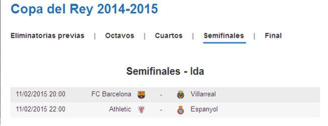 El Barcelona-Villarreal se jugará el miércoles 11 a las 20:00