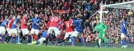 Falcao marca y el Manchester United golea al Leicester