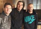 Pinto visita a Messi y 'Masche' antes de irse a Estados Unidos