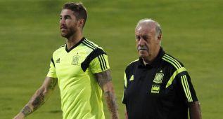 """Del Bosque, """"preocupado"""" por la baja de Ramos ante Ucrania"""