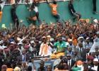 Impresionante recibimiento a la campeona Costa de Marfil