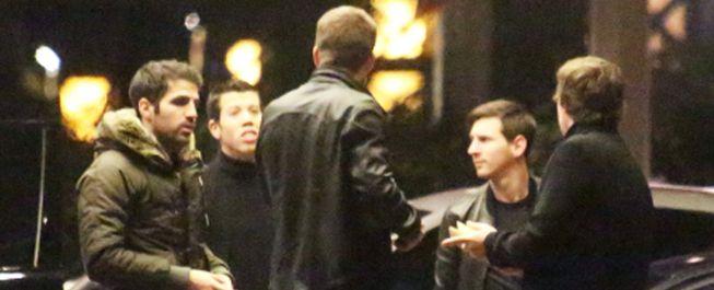 Messi, Piqué y Cesc, en el casino tras la derrota ante el Málaga