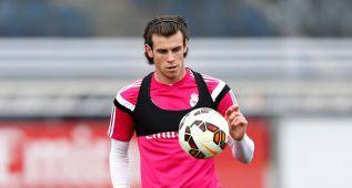 Cristiano trabaja en interior de instalaciones; Bale en solitario