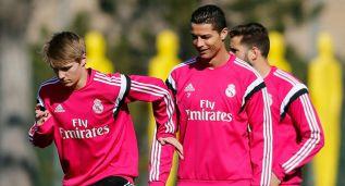 Cristiano, Carvajal y Pepe se entrenaron hoy con el grupo