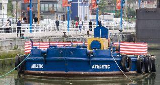 El Athletic solicita el permiso para sacar la gabarra al río