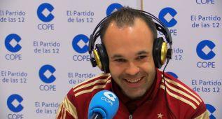"""Iniesta: """"No me gustaría que se pitara el himno en la final"""""""