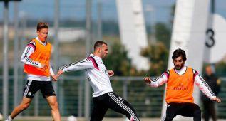 Jesé, Illarra, Nacho y Pacheco entrenaron con el Castilla