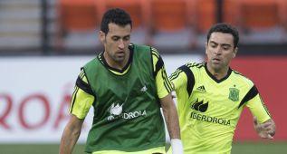 """Busquets: """"Xavi es el mejor jugador español de la historia"""""""
