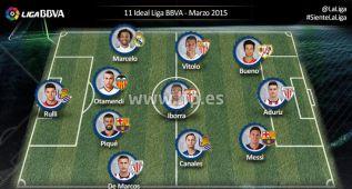 El once ideal de marzo de La Liga, sin jugadores del Atlético