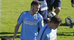 Simeone ensayó con Saúl en el once de cara al Córdoba