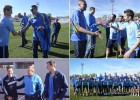 La plantilla del Estudiantes visitó al Atlético en Majadahonda
