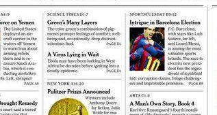 """Las """"intrigas"""" del Barça, portada de papel del New York Times"""