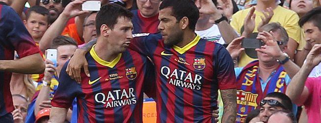 """Leo Messi: """"Dani Alves es mi mejor amigo en el vestuario"""""""